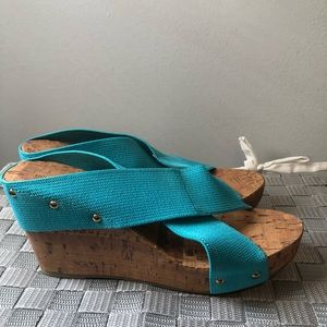 315f28e723d95 Payless · Bright Blue Sandal Wedges